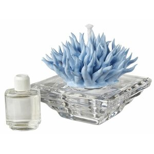 Debora Carlucci Italian Decorative Crystal Aroma Diffuser with Porcelain Coral Top
