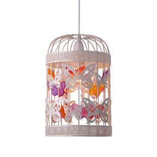childrens pendant lighting. Papillon Butterfly 20cm Metal Drum Pendant Shade Childrens Lighting