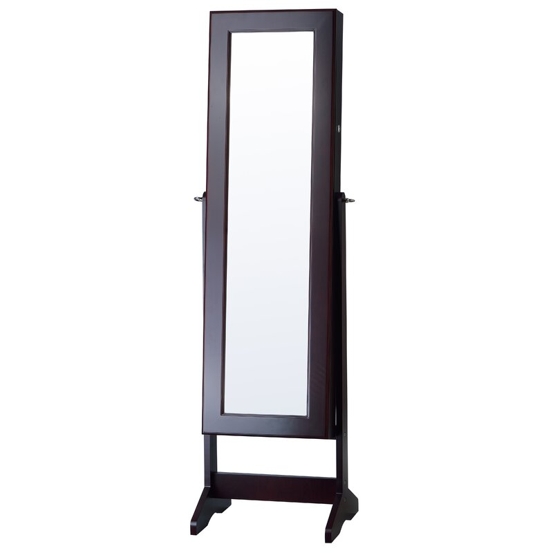 mirror armoire. cheval jewelry armoire with mirror o