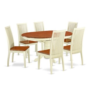 Aimee 7 Piece Solid Wood Dining Set