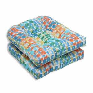 Quibble Sunsplash Outdoor Dining Chair Cushion (Set of 2)
