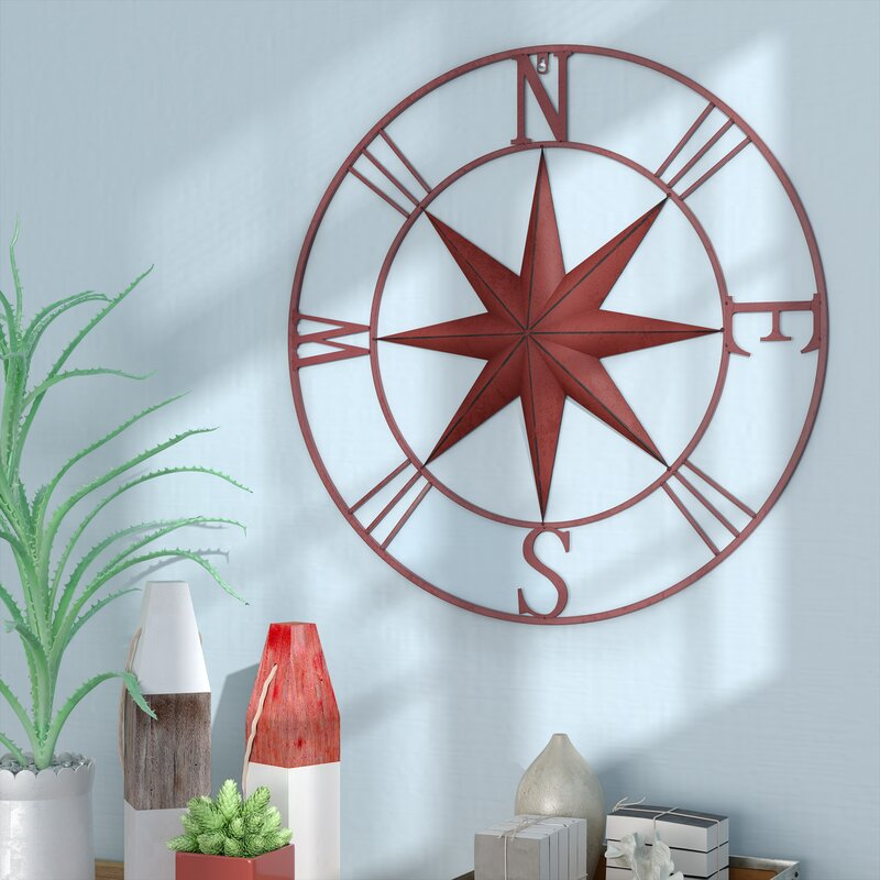 Antique Metal Compass Rose Wall Décor & Reviews | Joss & Main