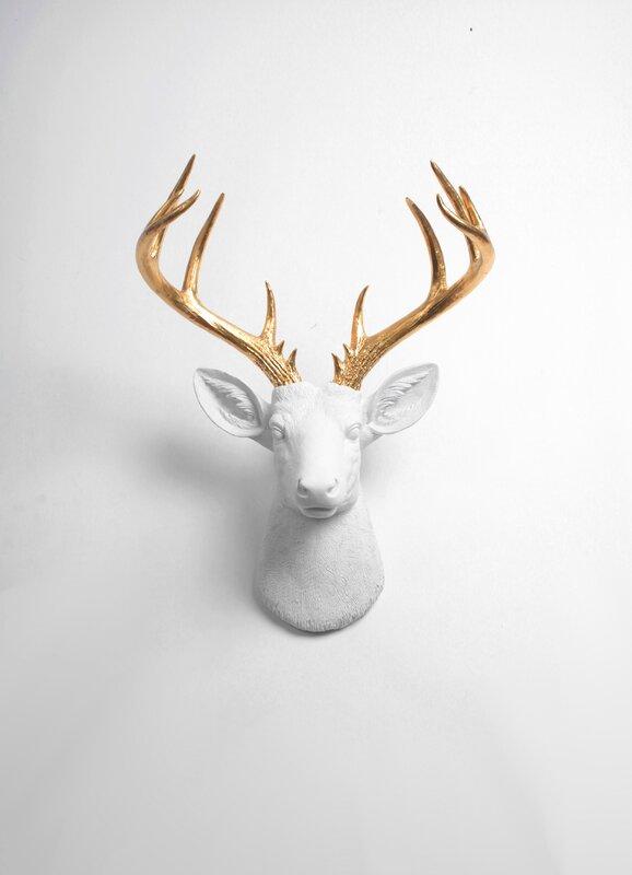 Foundry Select Modern Deer Head Wall Decor & Reviews | Wayfair