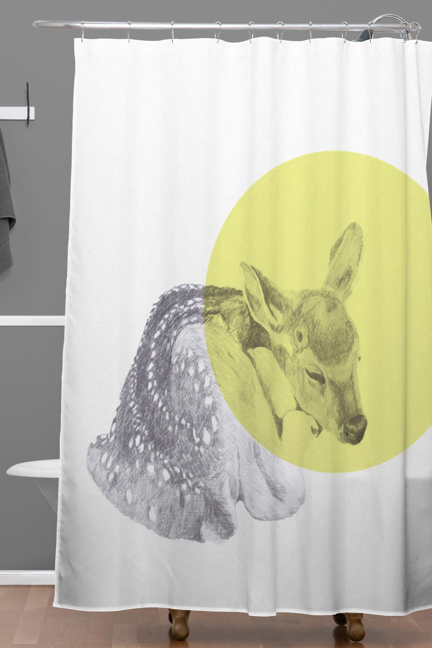 East Urban Home Morgan Kendall Sleeping Deer Shower Curtain