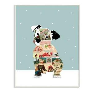 Christmas Puppy Dog Graphic Art Print