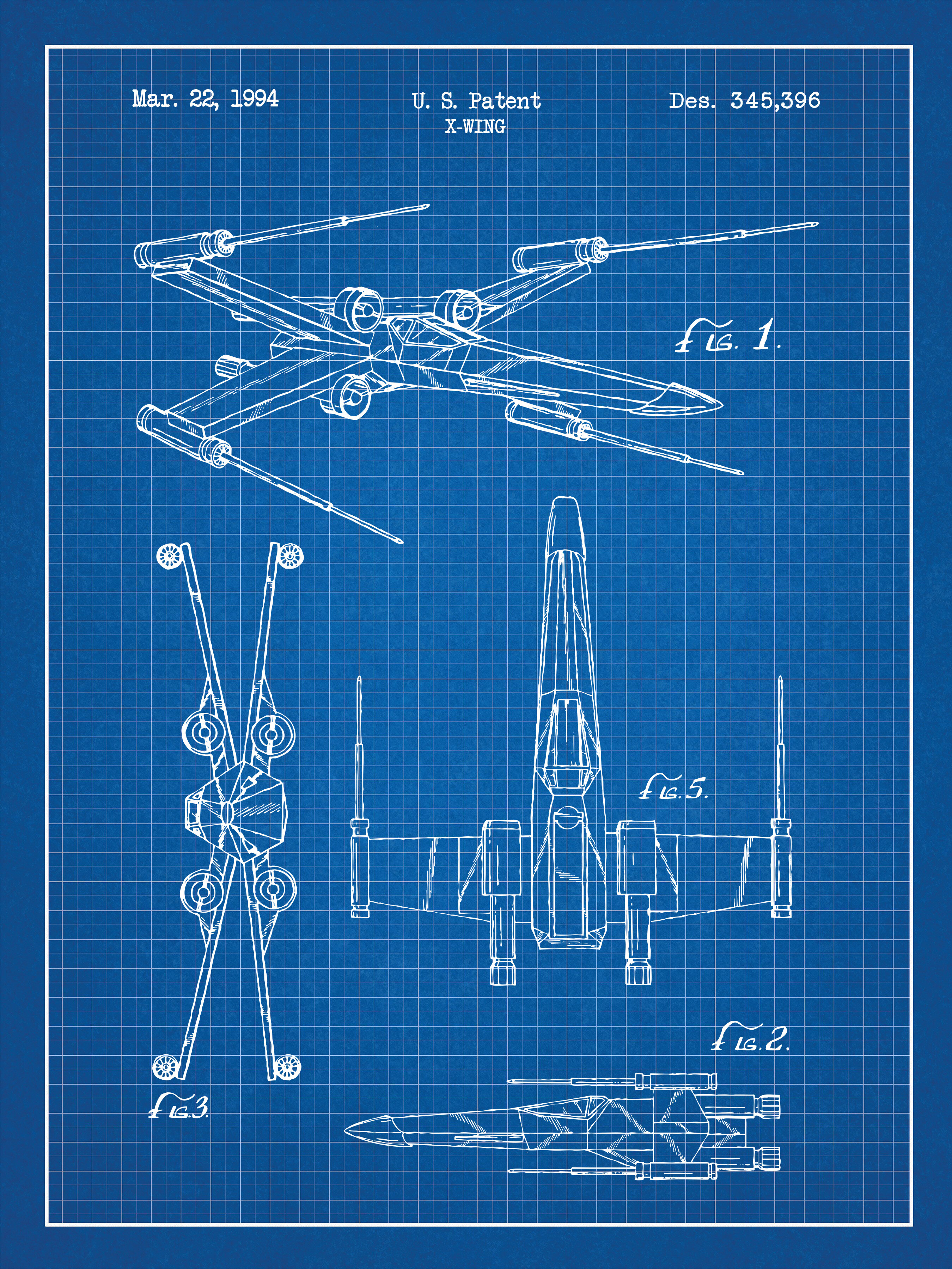 Williston forge star wars x wing 2 blueprint graphic art print williston forge star wars x wing 2 blueprint graphic art print wayfair malvernweather Choice Image