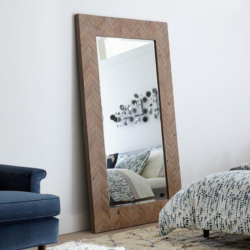 chevron wood framed mirror - Wood Framed Mirror
