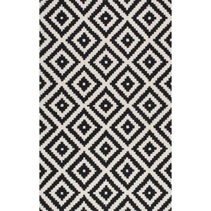 Obadiah Hand-Tufted Black Area Rug