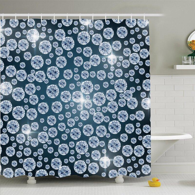 Reflections Of Diamond Shower Curtain Set