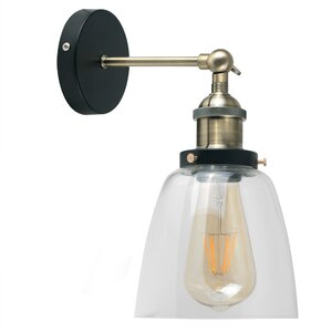 Industrial 1 Light LED Armed Sconce