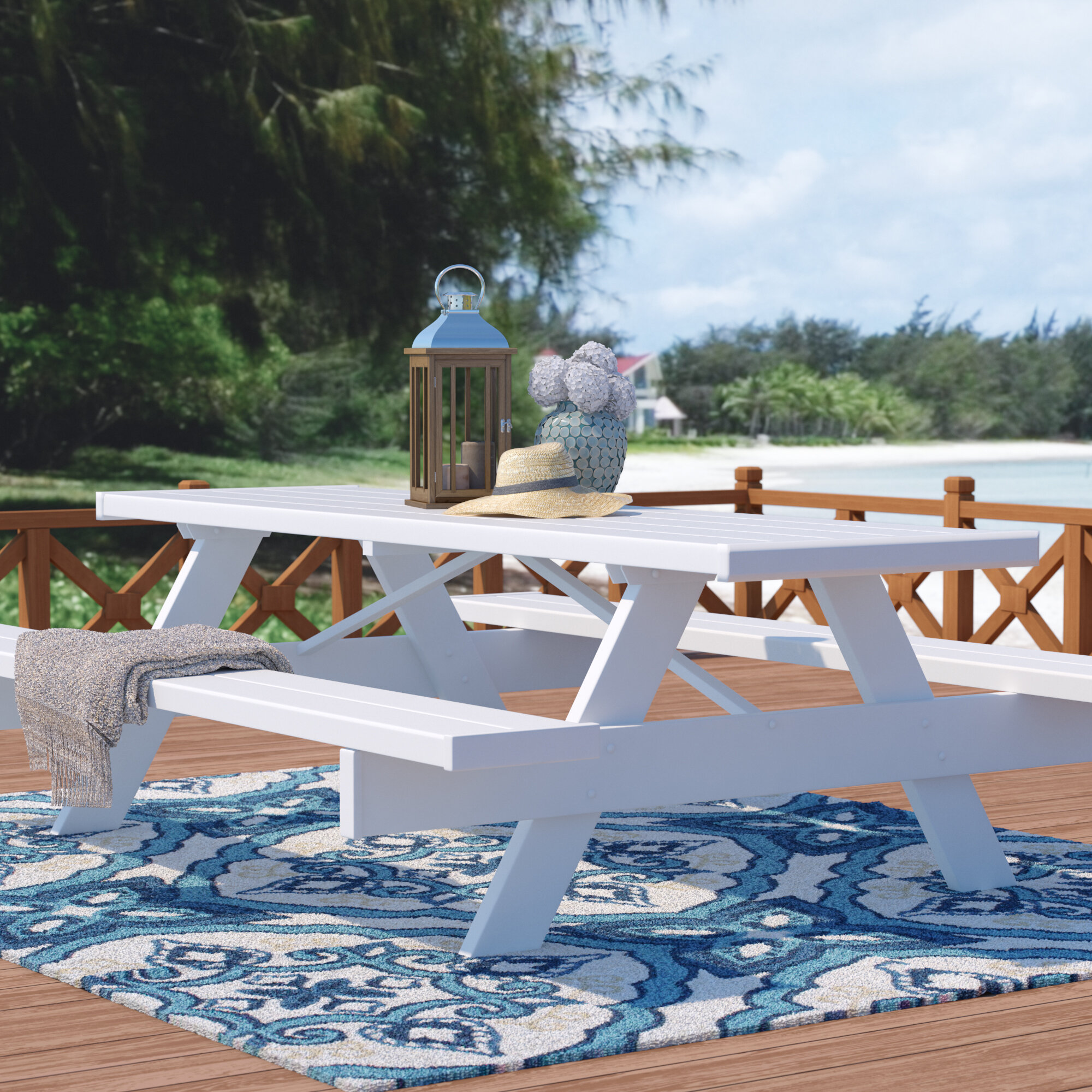 Beachcrest Home Windermere Picnic Table & Reviews