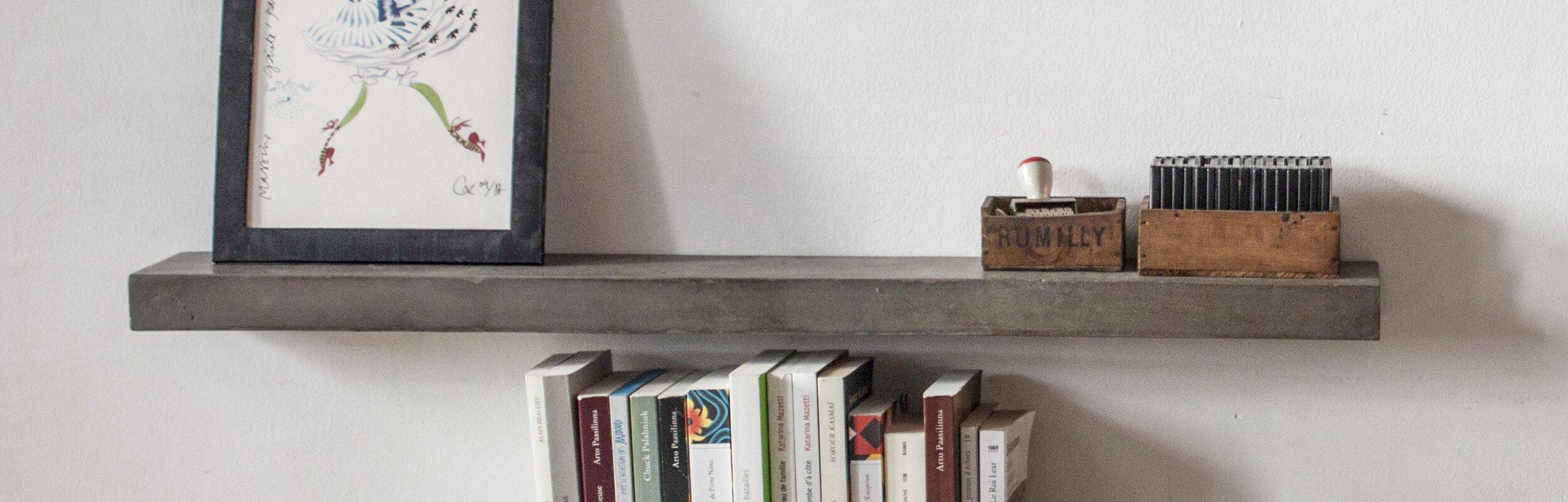 Floating Shelf lyon beton sliced concrete floating shelf & reviews | wayfair