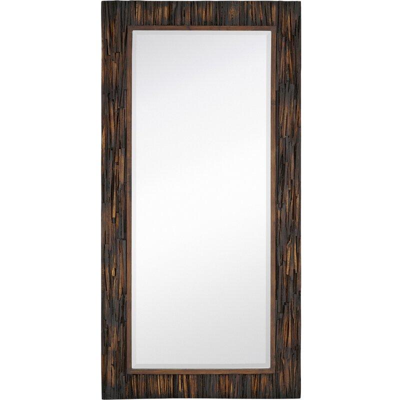 large scale rectangular natural wood framed mirror - Natural Wood Frame