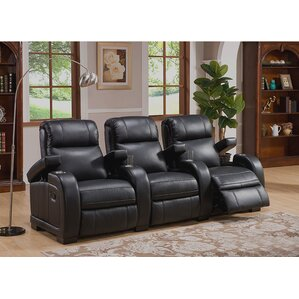 Leeds Home Theater 3 Row Recliner by Coja