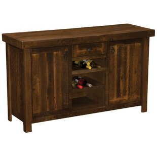 Barnwood Sideboard with Wine Rack Shelves