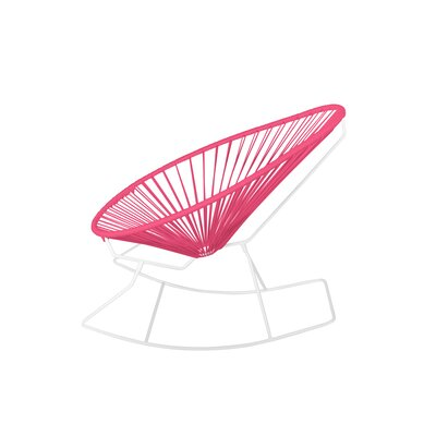 Brayden Studio Marvine Rocking Chair Color: Pink/White