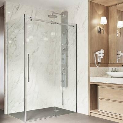 Sterling by Kohler Whiston Frameless Sliding Shower Door with Return on