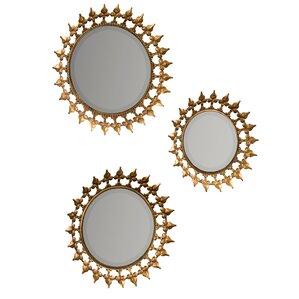 ilyana 3piece round wall mirror set