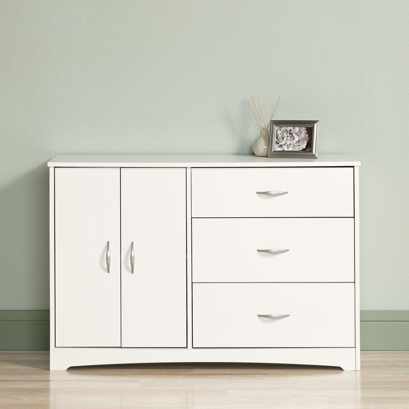 Zipcode Design Everett 3 Drawer Combo Dresser & Reviews   Wayfair
