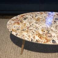 Charmant Glasper Faux Geode Coffee Table