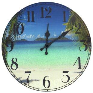 13 Caribbean Beach Wall Clock