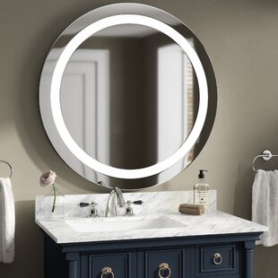 Orren Ellis Boney Front Lit Lighted Bathroom Vanity Mirror