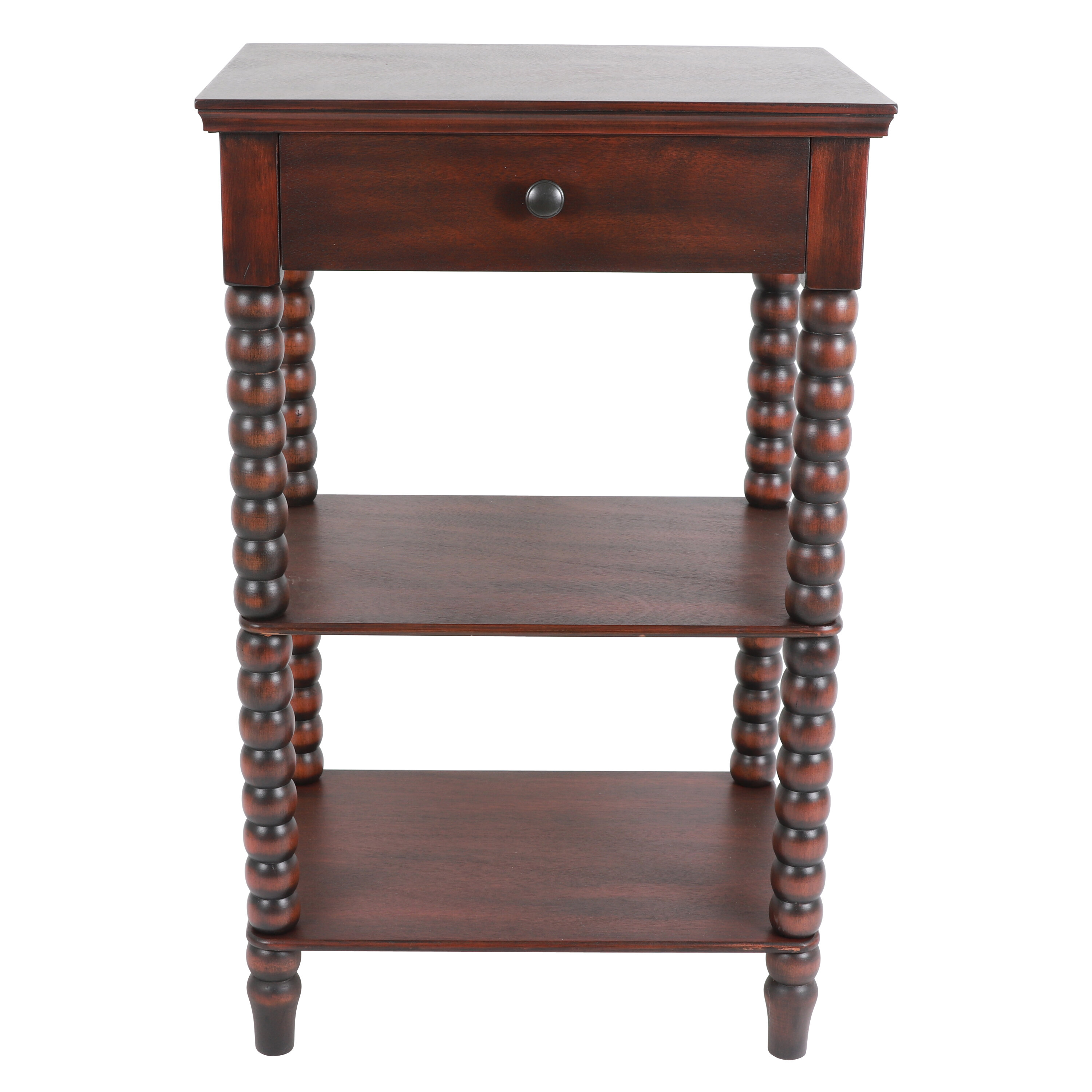 17ddd1f14c6 Jolie Spindle End Table with Storage