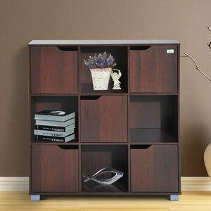 Thiessen 9 Cubby Wooden Storage Organizer Cubes Unit Bookcase
