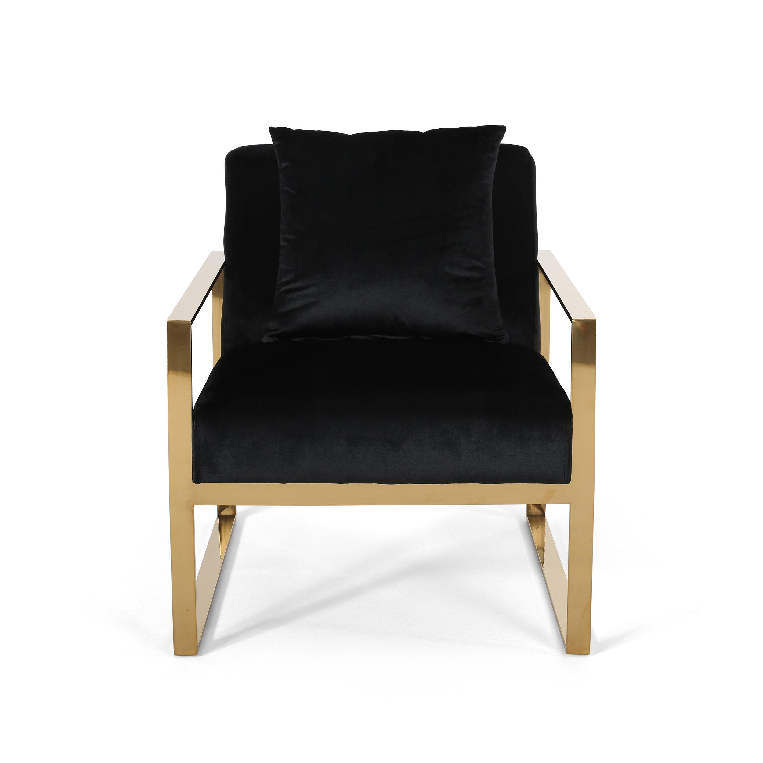 Penitas Stainless Steel Modern Glam Armchair Allmodern