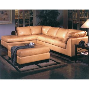 Espasio Leather Sectional by Omnia Leather