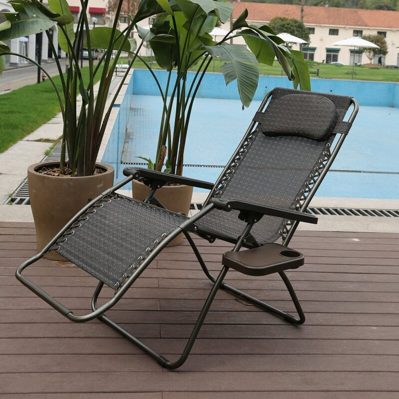 Exceptionnel Reclining Folding Zero Gravity Chair With Cushion