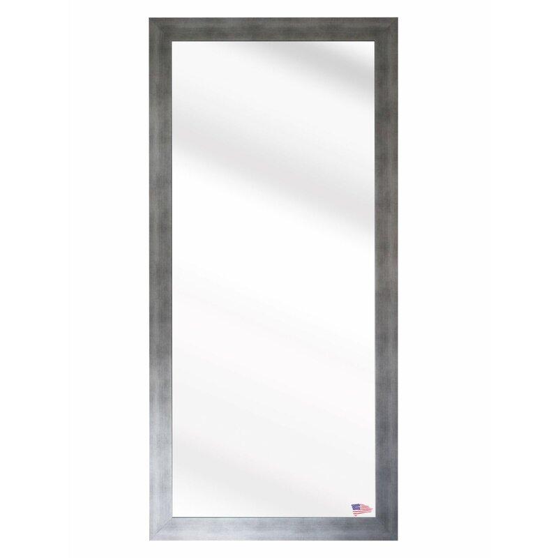 Wade Logan Silver Gunmetal Aluminum Frame Wall Mirror & Reviews ...