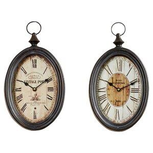 dottie oval wall clock set of 2