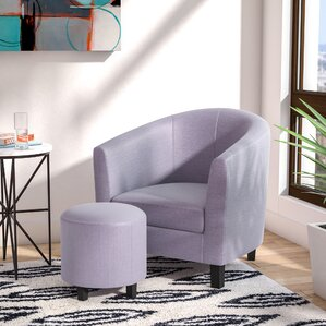 chairs with ottomans for living room. Margaux Barrel Chair and Ottoman  Sets You ll Love Wayfair