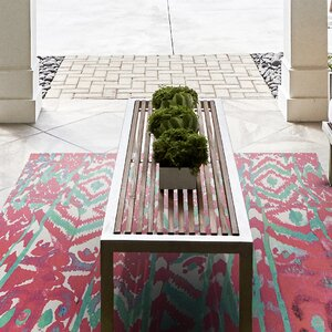 Florus Hand Woven Melon Indoor/Outdoor Area Rug