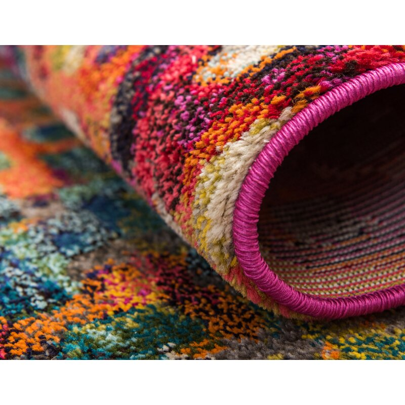 37081f5e25fb Bungalow Rose Massaoud Multi-colored Area Rug   Reviews