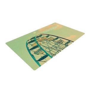 Robin Dickinson Ferris Wheel Green/Yellow Area Rug