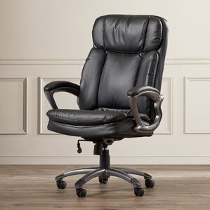 highback leather executive chair - Leather Office Chairs