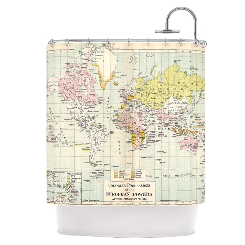 East Urban Home Travel Shower Curtain