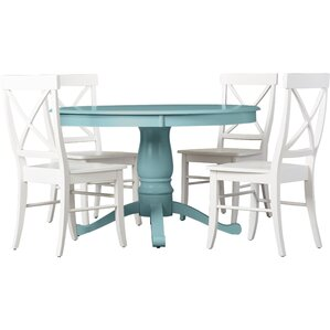 Stock Island 5 Piece Pedestal Dining Set by Beac..