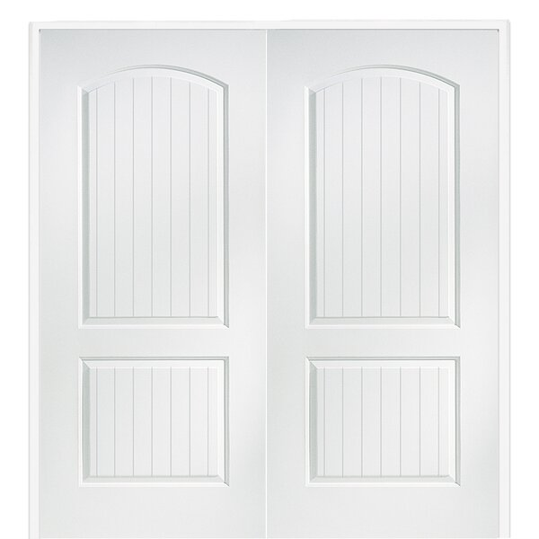 Lovely Verona Home Design Cashal Smooth Surface Solid Panelled Prehung Interior  Double Door U0026 Reviews | Wayfair