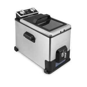 4 Liter Deep Fryer with Oil Filtration System and Timer