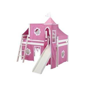 Kids Fun Princess Twin Low Loft Bed