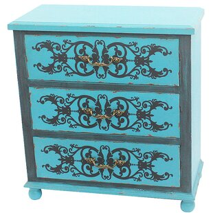 peacock blue furniture. Painted Peacock Blue 3 Drawer Accent Chest Furniture C