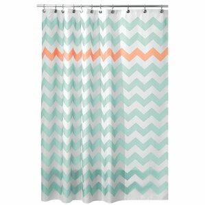 grey and orange shower curtain. Chevron Shower Curtain Orange Curtains You ll Love  Wayfair
