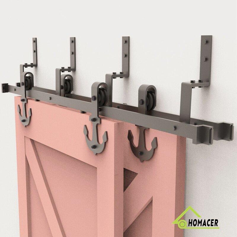 Homacer Bypass Z Barn Door Hardware Wayfair