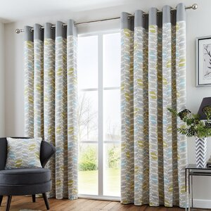 Lora Eyelet Curtains Set Of 2