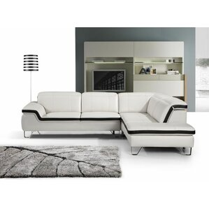 Zion Leather Sectional by Beve..