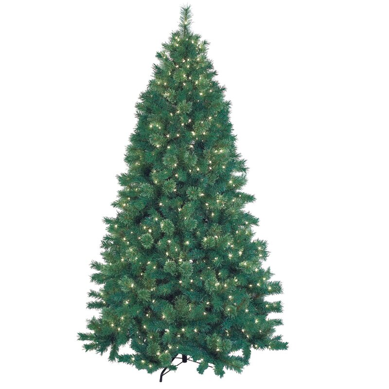 12 Ft Pre Lit Christmas Tree Costco: Jeco Inc. 7.5' Green Artificial Christmas Tree With 600
