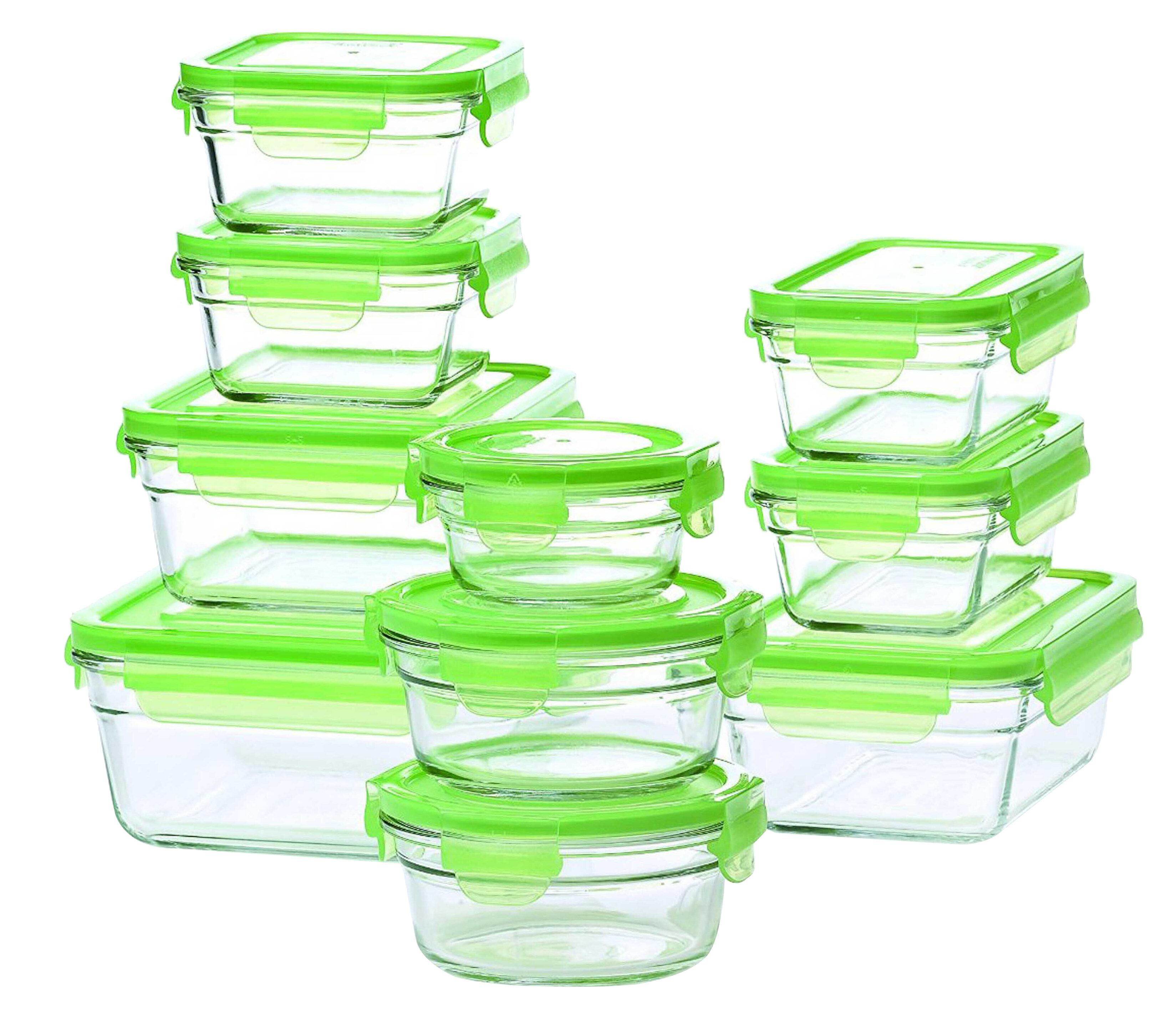 Glasslock Glasslock 10 Container Food Storage Set Reviews Wayfair